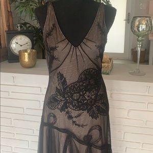 BCBG MaxAzria Formal Sheer Tulle Dress| Size M